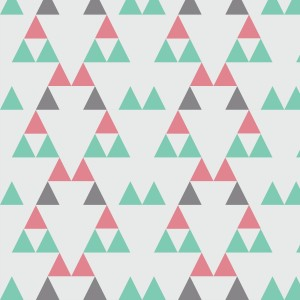 Quiver Full of Arrows Triangles 2 Pink Green and Gray