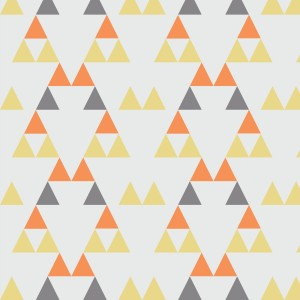 Quiver Full of Arrows Triangles 2 Yellow Orange and Gray